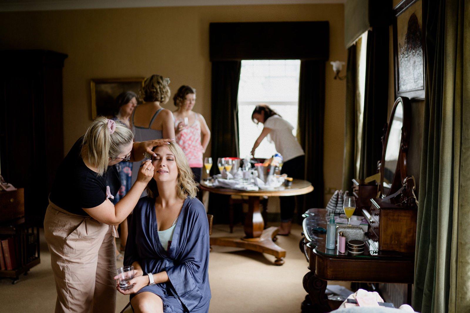 Dromquinna Manor wedding bride preparation