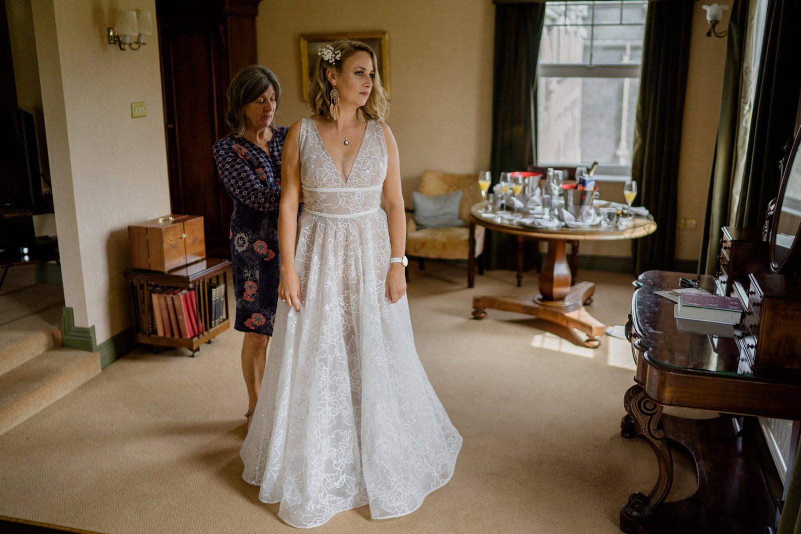 Dromquinna Manor wedding bride in the morning
