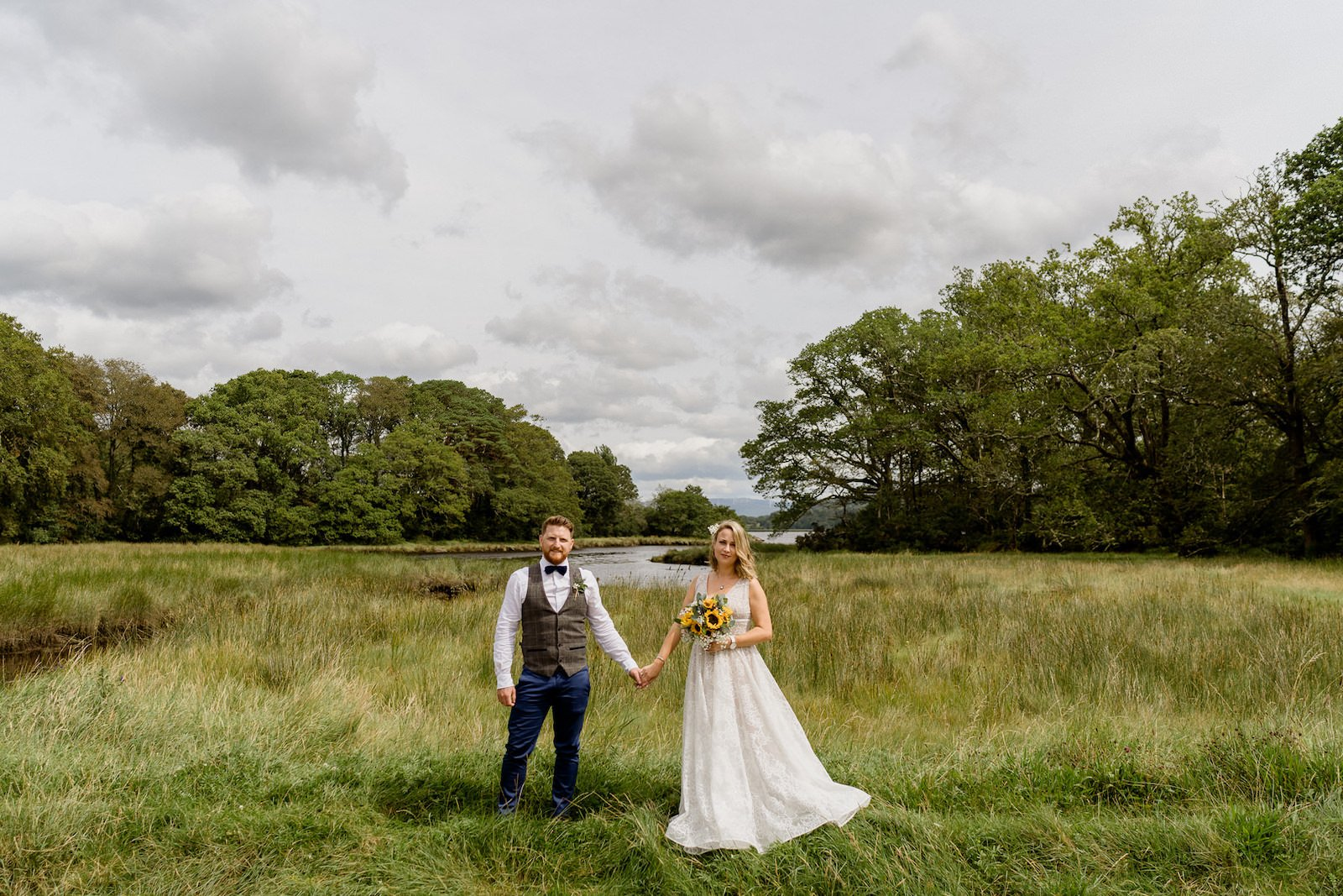 Dromquinna Manor wedding bride and groom