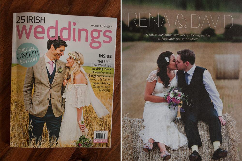 Irena & David's beautiful rustic wedding in Confetti Magazine 77