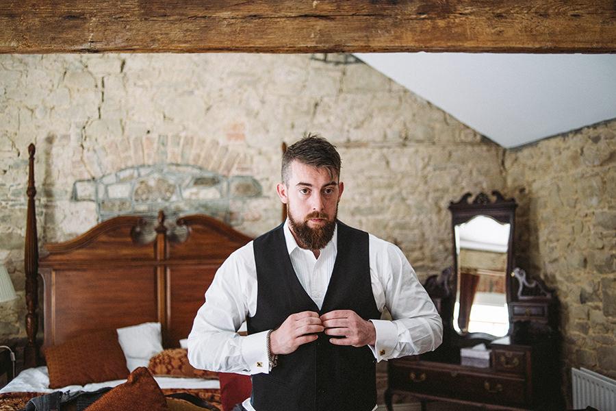 Cabra castle wedding groom