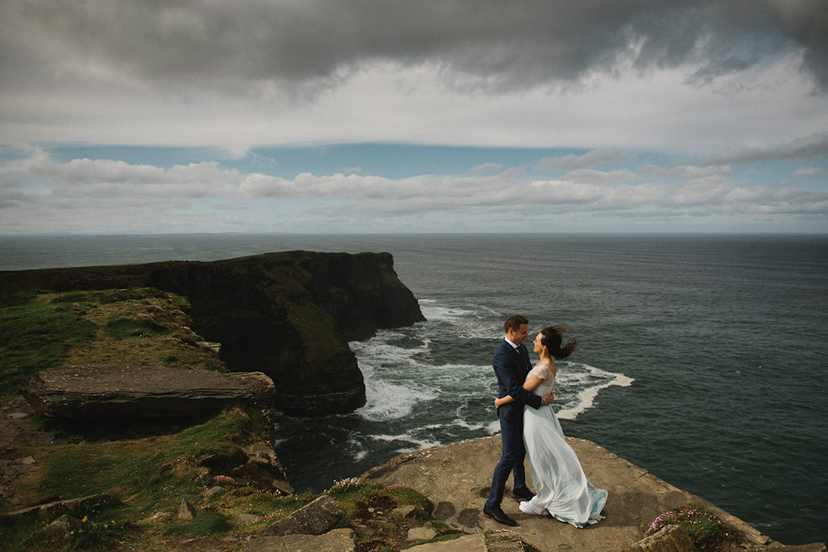 Cliffs of Moher wedding photos