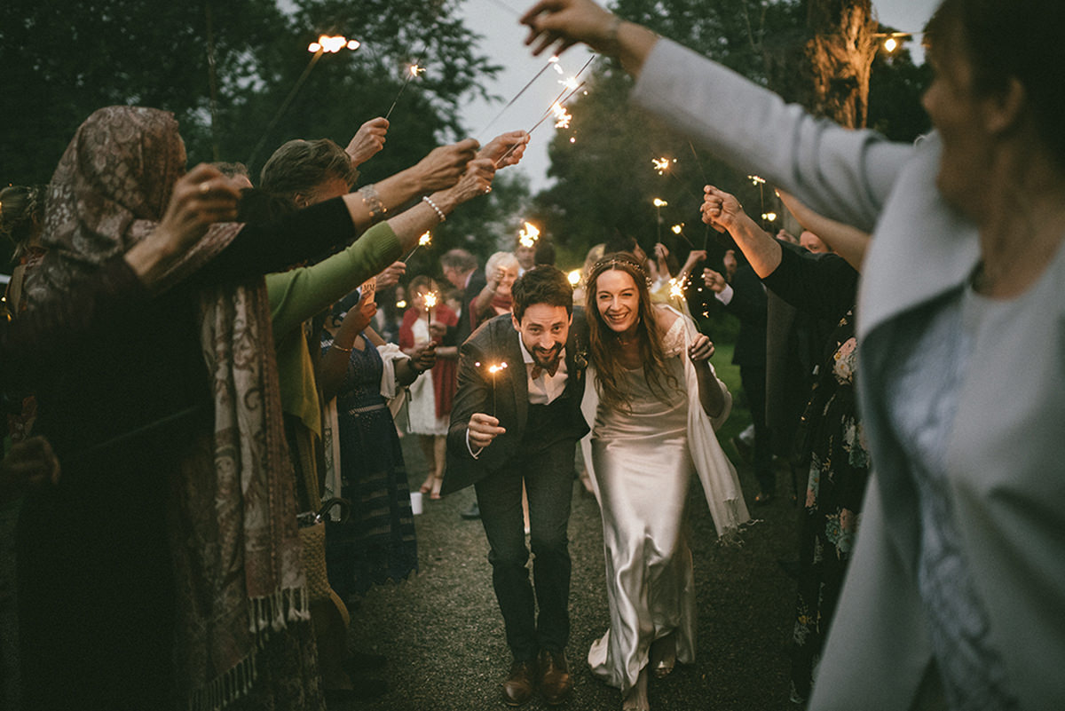 Cloughjordan House Wedding sparklers