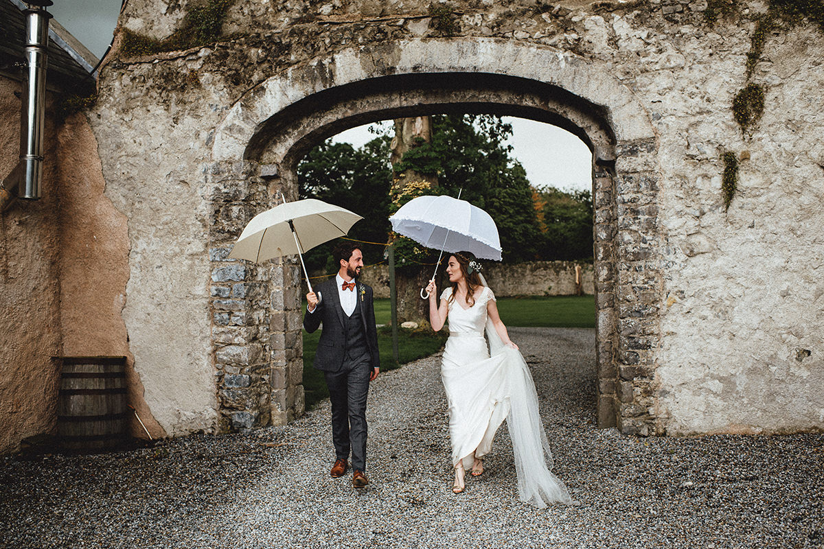 Cloughjordan House Wedding rainy day