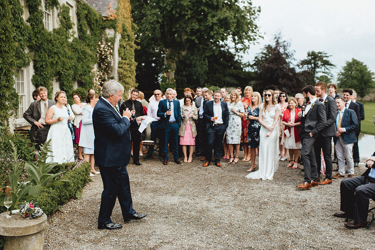 Cloughjordan House Wedding speeches