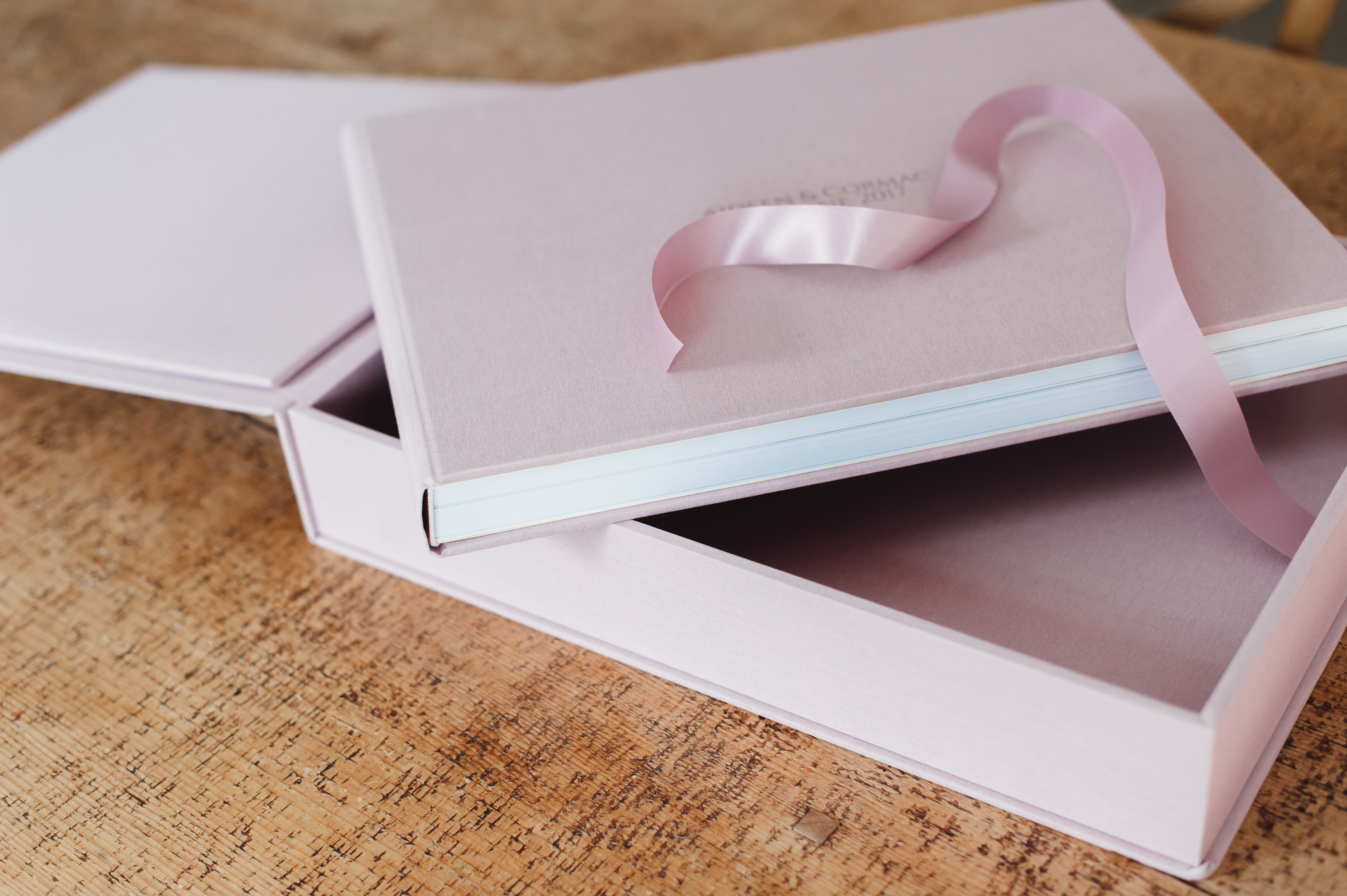 modern textile wedding album