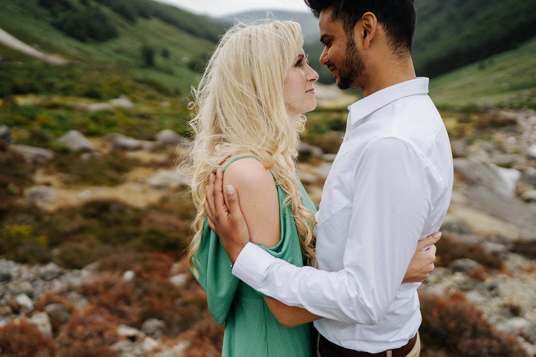 lovely wild engagement session in Wicklow Mountains