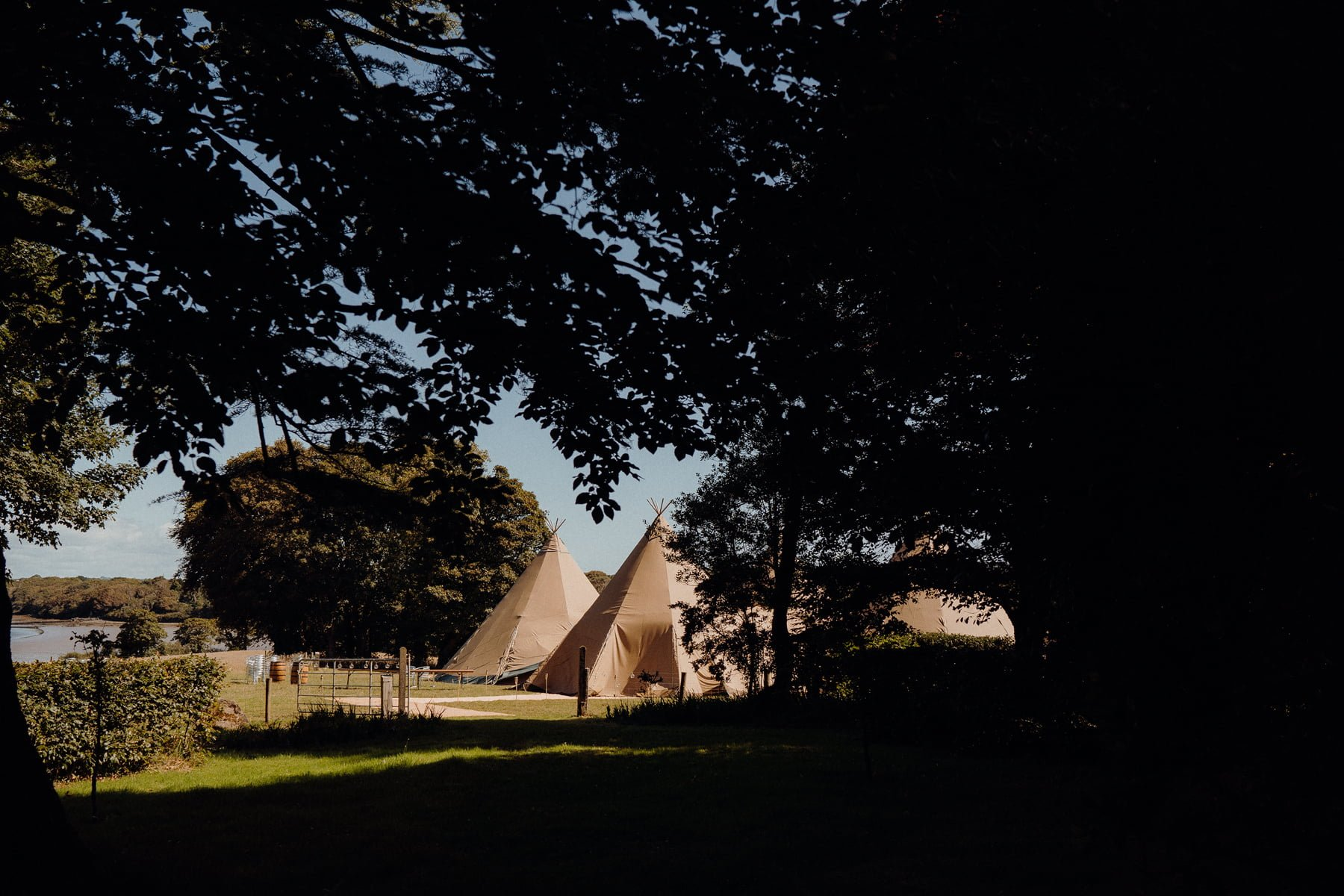 Outdoor Tipi wedding. Inish Beg Estate Ireland