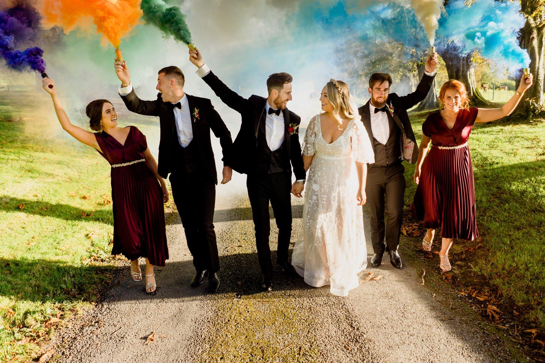 autumn-wedding-kilshane-house-bridal-party