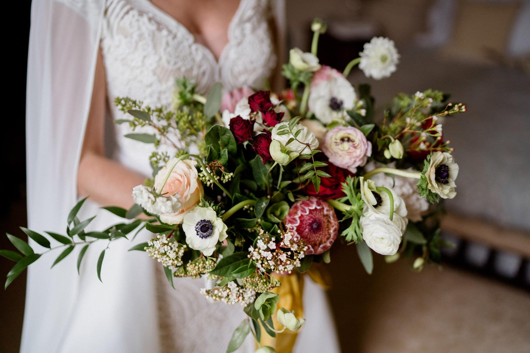 Cloughjordan House Winter Wedding flowers details